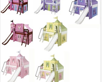 Castle Loft Bed Top Tent, Bottom Tent and Tower  (Three Pieces)-FREE SHIPPING