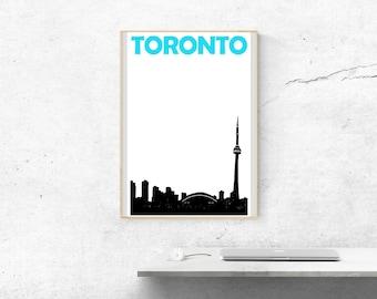 Toronto Print // Toronto Skyline // Canada Print // Toronto Art // Toronto Poster // Canadian Art // Canadian Gifts // Toronto Gifts