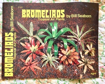 Air Plants Houseplants Book Guide with Color Photos. Bromeliad Tropical House Plant Book.