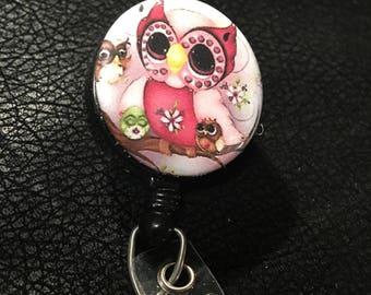 Owl name badge holder