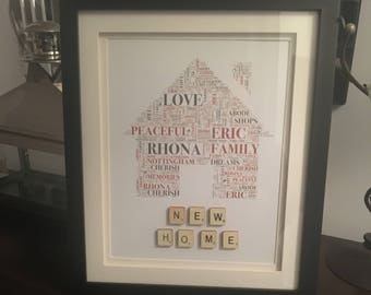 EmsiLou HOME Typography Frame (personalised)