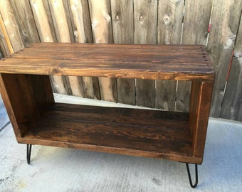 The honey box  record holder media console , entertainment center, media stand, reclaimed wood, craft furniture,