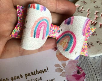 Rainbow Sprinkles Bow