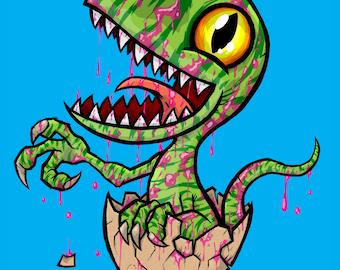 "Raptor Egg 8x10"" Print"