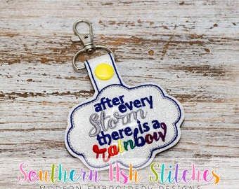 After Every Storm there is a Rainbow SnapTab Embroidery Digital Download