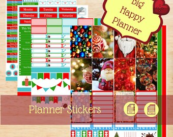 Christmas Time/ Big Happy Planner Stickers / Big Happy Planner / Weekly Sticker Kit / Create 365 / Mambi / Christmas Planner Stickers