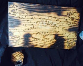 Ouija Board Wooden. Skull Board