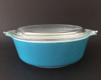 Vintage Pyrex Horizon Blue 1Pint Casserole