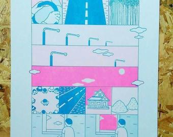 Arthur Russell A3 risograph print #2