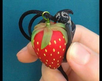 Bat Pendant Necklace Polymer Clay Jewelry Food Jewelry Food Charm Kawaii Jewelry Gothic Jewelry Halloween Jewelry Miniature Animal Teen Gift
