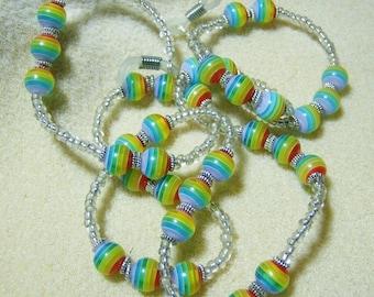 Handmade Eyeglass Lanyard- Bright & Cheerful Rainbow Glass Beads, Glassses Chain, Eyeglass Holder, Colorful by JewelryArtistry - L237