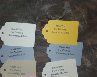 Thank You for Coming Tags with a personalized date 10-Pack