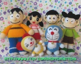 DORAEMON and FRIENDS - PDF amigurumi crochet pattern