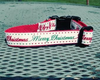 Merry Christmas dog collar for small(ish) pups