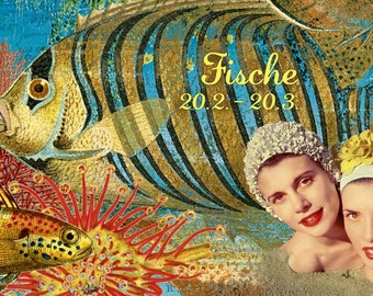 Birthday card sign fish (303)