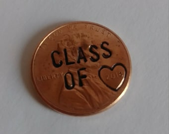 Graduation gift Class of 2018 Penny Hand Stamped Penny  High School Graduation key chain or remembrance charms Congratulations Graduates!