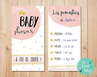 Card picks, Baby shower, customizable {to print you}