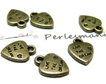 Primer 50 hearts Live the dream ref pendants jewellery