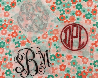 FREE SHIPPING - DIY Iron-on Monogram