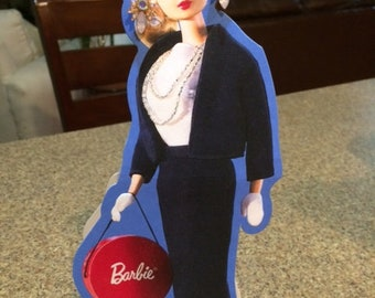 Barbie card ( with jewel earrings )