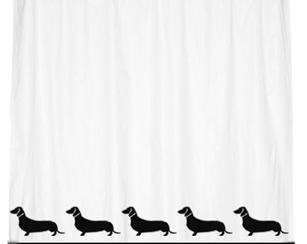 Dachshund Doxie Dog Smooth Shower Curtain with Your Choice of Colors
