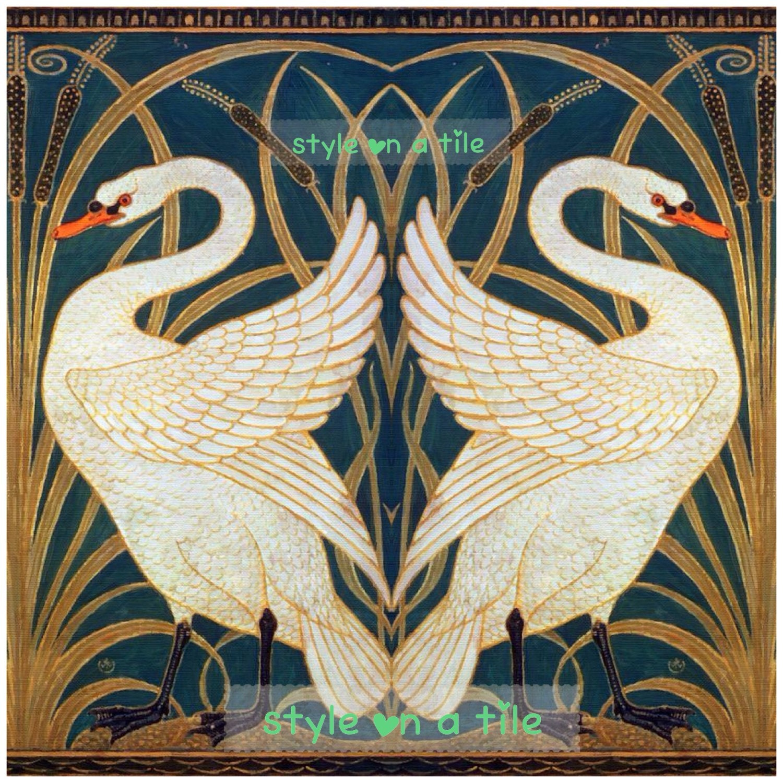 Lovely walter crane swans heart iris rush 6152mm ceramic tile lovely walter crane swans heart iris rush 6152mm ceramic tile trivet kitchen bathroom walls splash backs fireplace plant stand c dailygadgetfo Choice Image