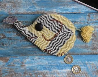 Fabric Elephant Purse - Handmade - Fairly Traded - Hilltribe