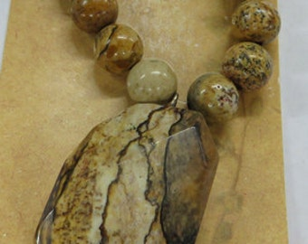 Focal Pieces - Stone Focal Pieces - Shell Focal Pieces - Semi-Precious Focal Set - 5 Choices to Choose From