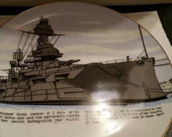 Battleship Texas Sesquiecentennial Plate