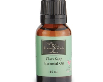 Karma organic Clary sage Essential Oil 100% Pure and Natural Therapeutic Grade- Good for Aromatherapy (15 Ml)