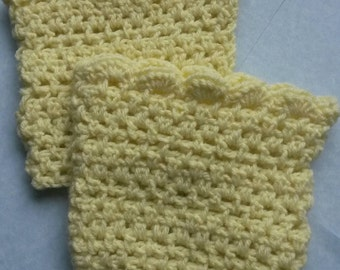 Yellow Crochet Boot Cuff, crochet boot sock, crochet boot topper, boot sock, boot cuff, boot topper, yellow boot cuff, yellow boot sock