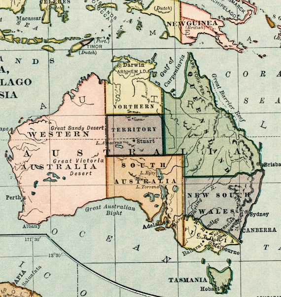 1920s australia map print australasia malay archipelago hawaii te gusta este artculo gumiabroncs Gallery