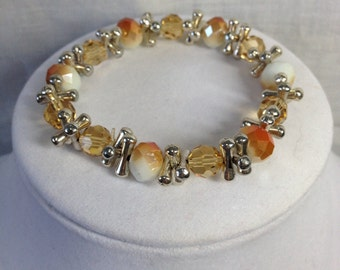 PRICE REDUCED!!!  Bracelet - Coral and Silver