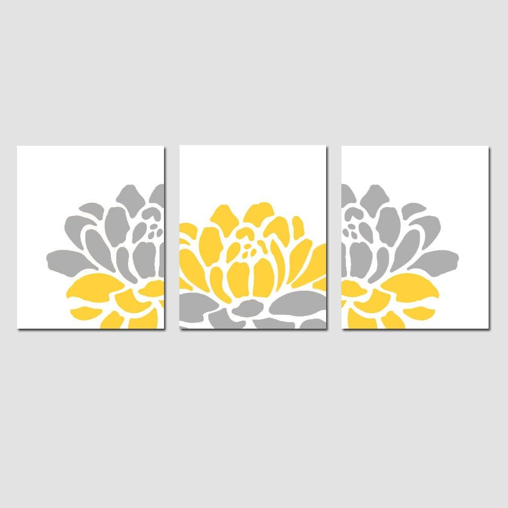 Floral Trio Set of Three 11x14 Prints Modern Wall Art