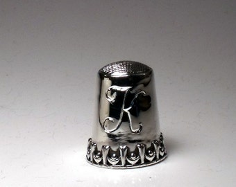 Thimble Sterling Silver hand fabricated RF359