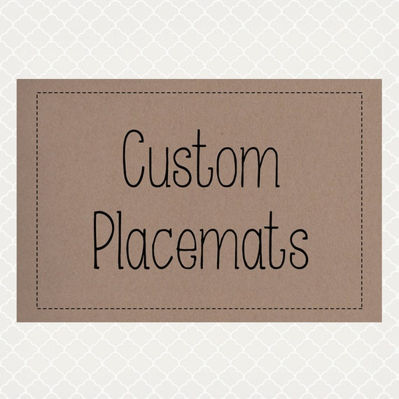 custom order paper placemats