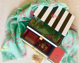 All Occasion Ladies hamper.. keepsake box..by Kirsche gifts..Birthday..Anniversary..Wife girlfriend sister chocolates scarf keyring