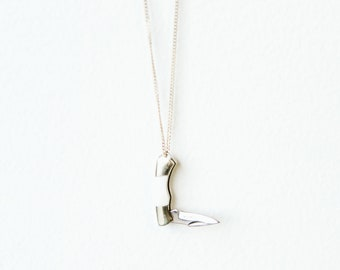 Mini Pocket Knife Necklace