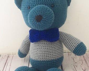 Teddy bear plush, Teddy bear softie, amigurumi,baby shower gift, handmade,crochet Teddy bear