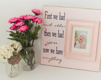 Personalized Baby Frame, Nursery Sign, Baby Gift, Personalized Frame, Baby Frame, Baby girl nursery