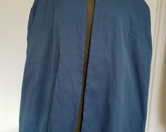 Renaissance Traveller's Cloak - Blue
