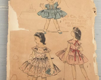 Advance 8155 Childs Party Dress Vintage 1950s Sewing Pattern