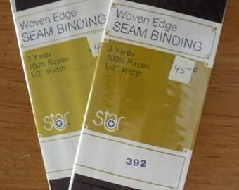 Star Brown #392 Woven Edge Seam Binding