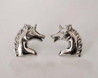 unicorn earrings, unicorn jewelry, stud earring, tiny earrings, horse earrings, delicate earrings, fantasy earrings, fairytale earring