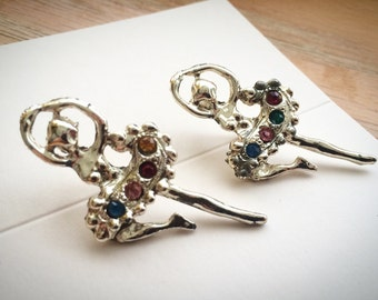 Pair of Ballet Brooches