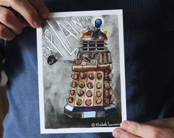 Variety of Doctor Who Inspired Art Prints