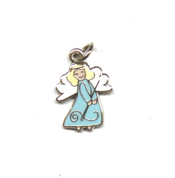 "Stitching Angel 1/2"" Enamel Charm"