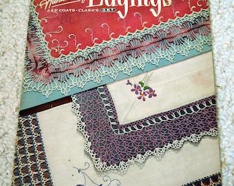 Vintage Handkerchief Edgings, J&P Coats and Clark Book No. 282 Vintage 1951