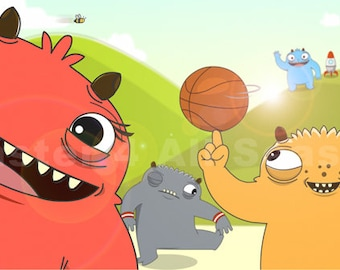 Summer Sports and Activities  - A Monster 4 All Seasons encourages kids to get active and set goals! Desktop Wallpaper