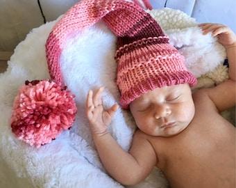 Newborn Stocking Hat - Baby Stocking Hat - Baby Photo Prop - Newborn Photo Prop - Stocking Hat - Knit Hat - Baby Hat - Newborn Hat - Hat